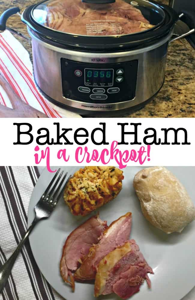 Can you make a baked ham in a crockpot? Of course, you can! And it is absolutely delicious! Ham shouldn't only be served for family holidays- you can enjoy it any night!