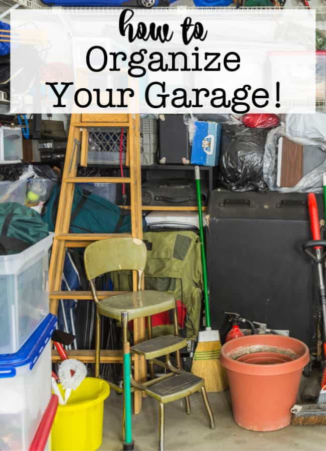 Garages often end up becoming the dumping ground area for a home- leaving them messy and cluttered! Here's how to organize your garage- so you can both store and find what you need!