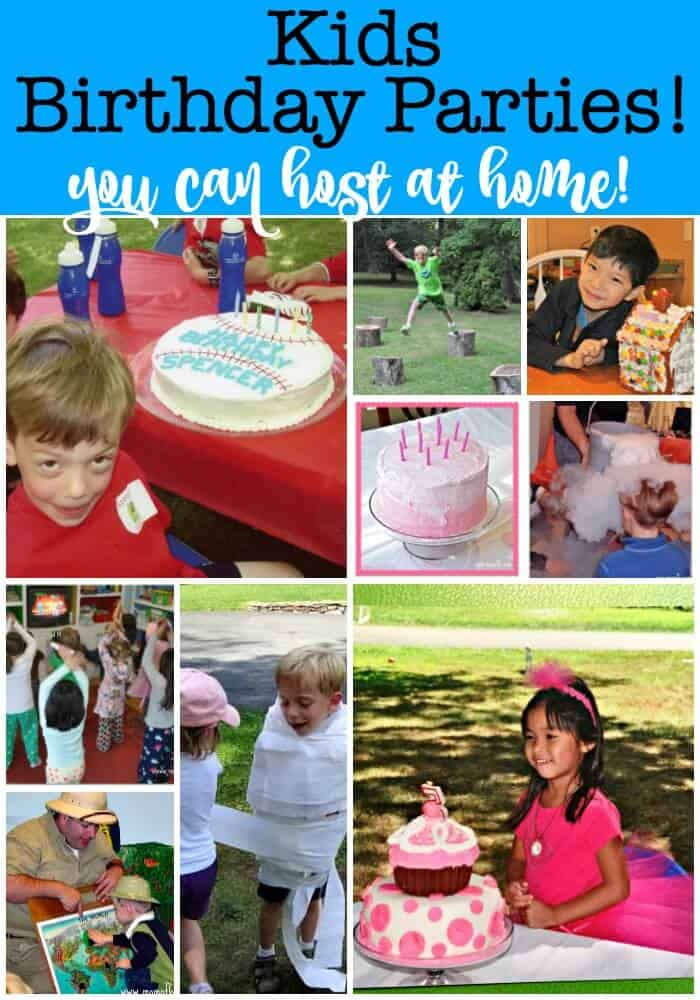 This post will show you exactly how to throw amazing kids birthday parties at home that are magical for your kids, fun for you, and inexpensive! You'll find tons of tips and themes for for your kids birthday party ideas at home!
