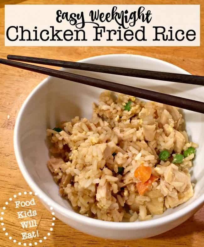 You would think that during a busy weeknight that the easiest thing to do would just be to order takeout rather than cooking. But honestly? This delicious chicken fried rice recipe is better than anything we order in from Chinese takeout, and it is super simple to make!