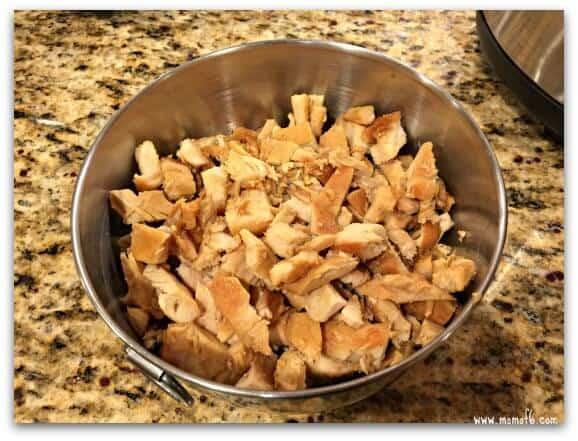 Chicken Fried Rice-chicken cut up