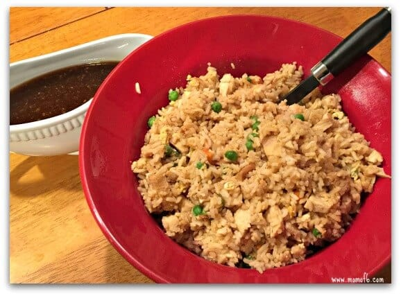 Chicken Fried Rice- red bowl
