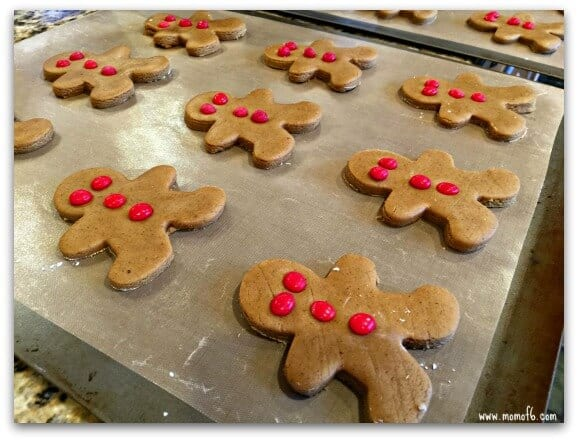 These gingerbread men cookies are chewy, have all of the deep rich molasses flavor that we love in gingerbread cookies, and when paired with fiery red hot eyes and buttons- it is just the perfect combination of holiday goodness!