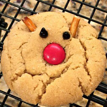 Reindeer Peanut Butter Blossom Cookies