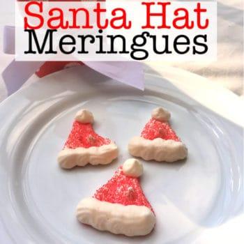 Santa Hat Meringue Cookies