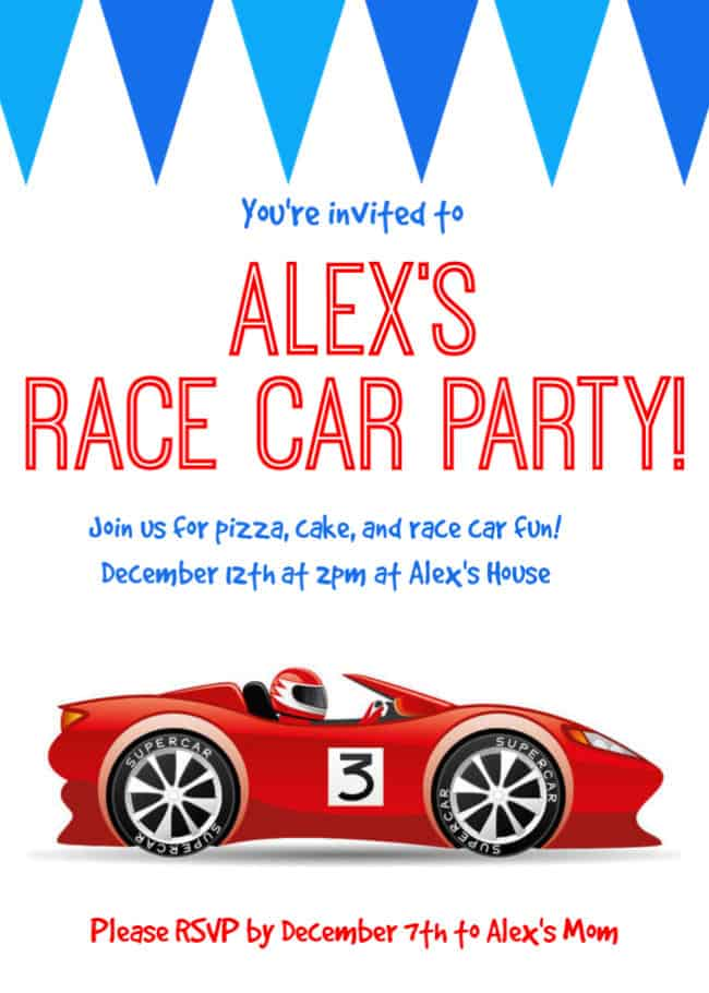 race car birthday party perfect for tweens momof6