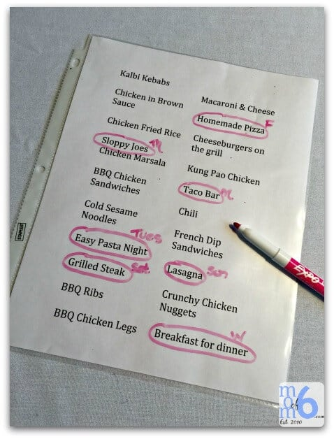 the easiest way to menu plan