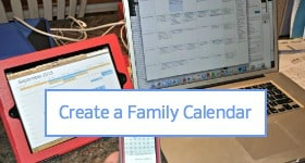 How to Create a Family calendar Sidebar Badge