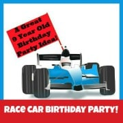 Race Car Birthday Party {A Great 9 Year Old Birthday Party Idea!}