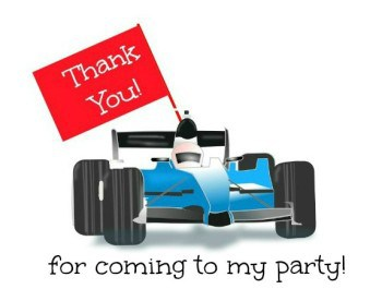 Race Car Party Favor tag (single)