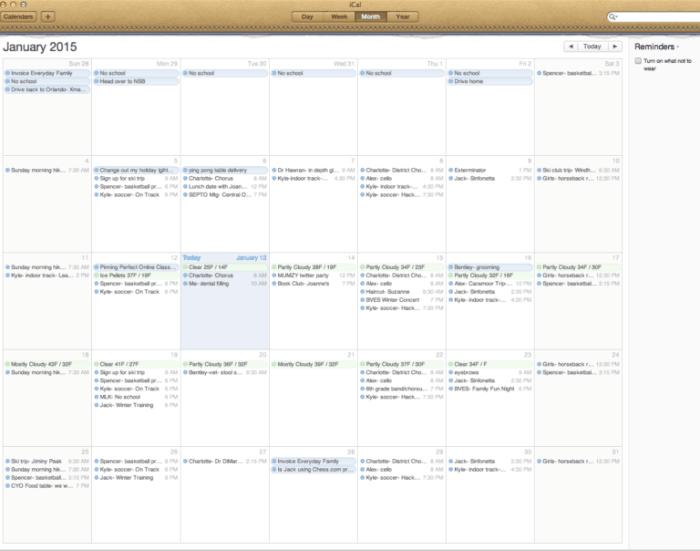 Calendar Organization System : The best calendars that work for families momof
