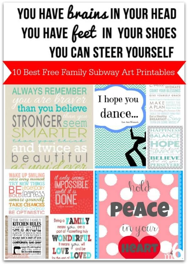 image about Subway Art Printable named 10 Least difficult Totally free Loved ones Subway Artwork Printables - MomOf6