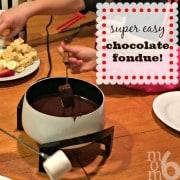 Family Fun Night Dessert: Chocolate Fondue