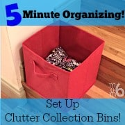 5 Minute Organizing: Set Up Clutter Collection Bins