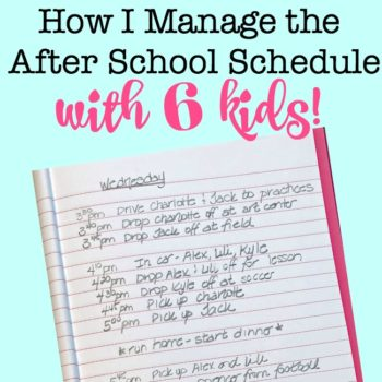 How I Manage the Kids After School Schedule