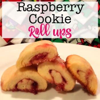 Raspberry Cookie Roll Ups