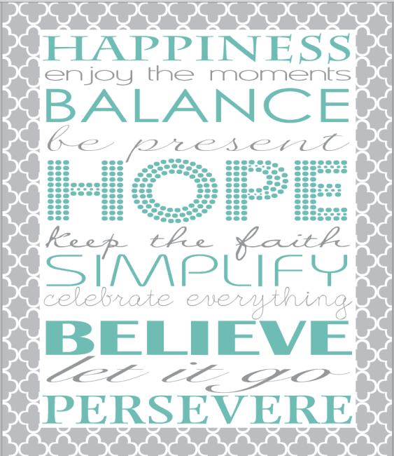 Happiness Balance Hope