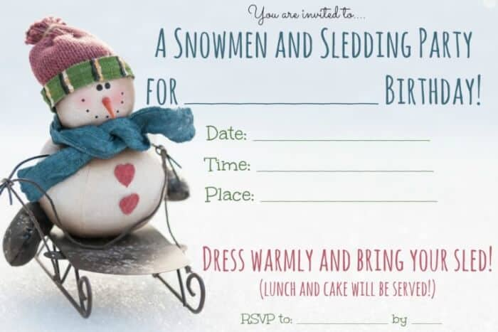 looking for some great winter birthday party ideas snowmen and