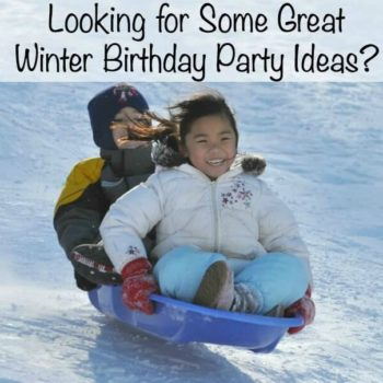Great Winter Birthday Party Ideas: Snowmen and Sledding Party!