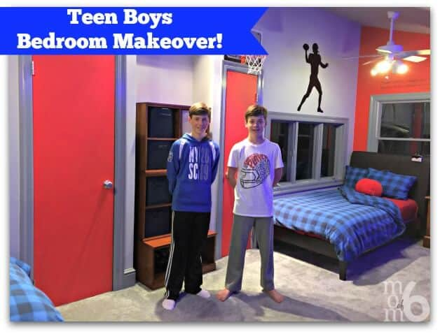 Teen Boys Bedroom Makeover - MomOf6