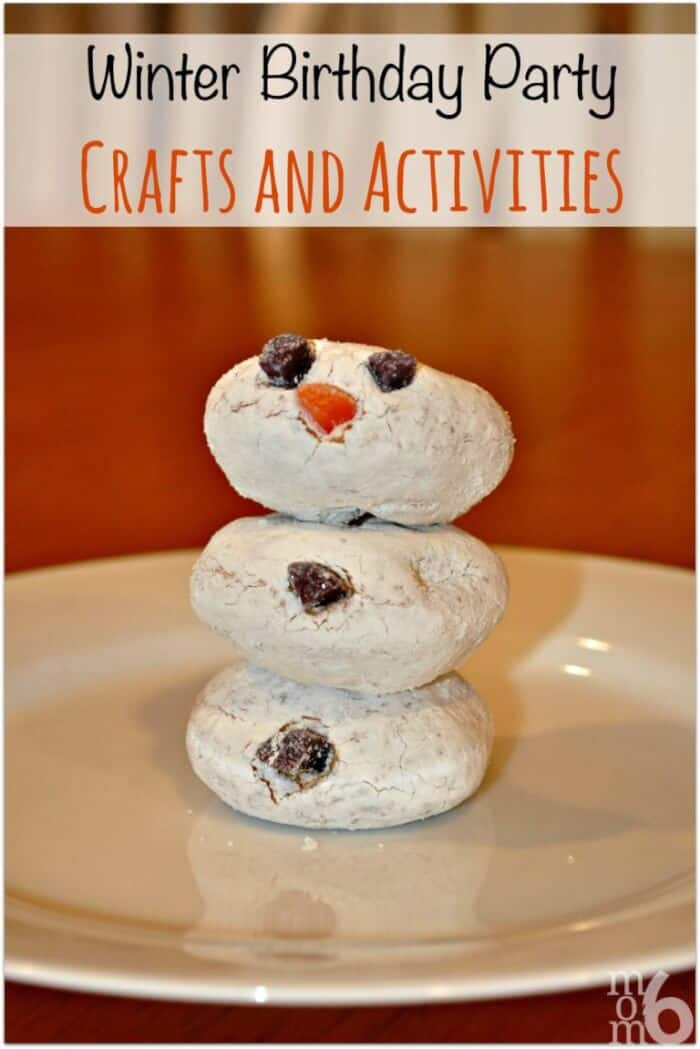 Great Winter Birthday Party Ideas Snowmen And Sledding