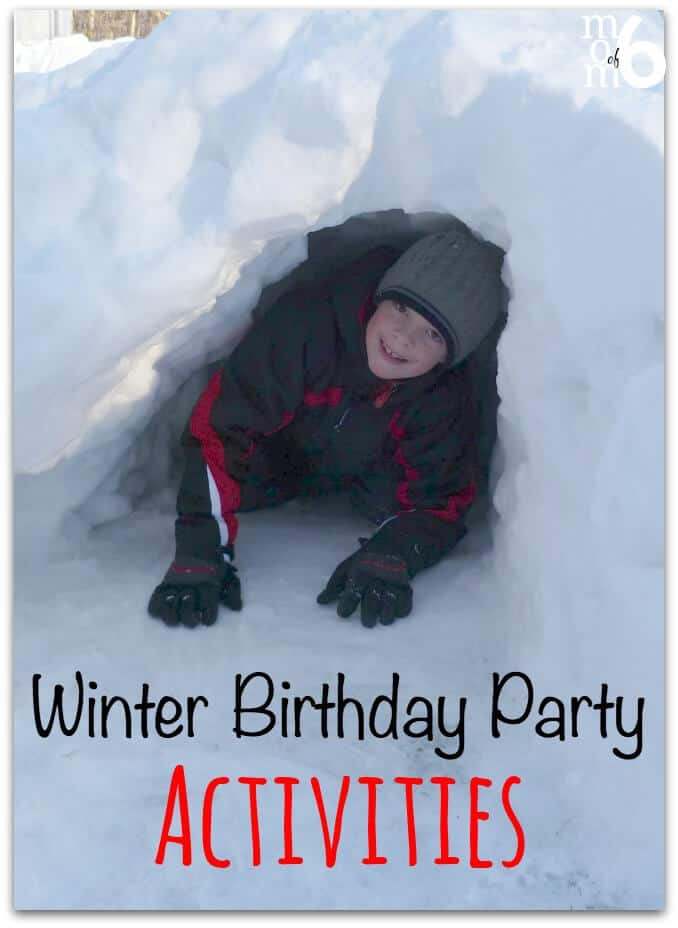 Great Winter Birthday Party Ideas Snowmen And Sledding Party Momof6