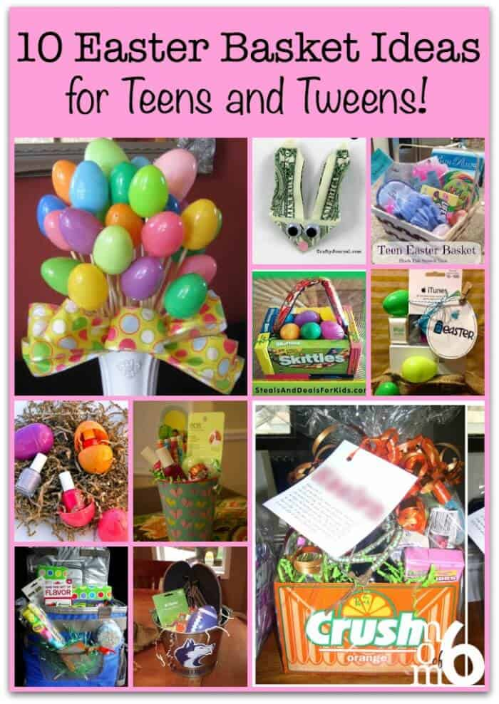 10 easter basket ideas for teens and tweens momof6 if you are looking for some creative inspiration for your easter baskets this year here negle Image collections