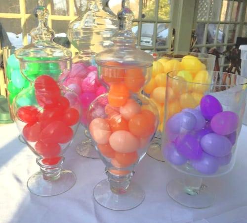 lefover plastic easter eggs