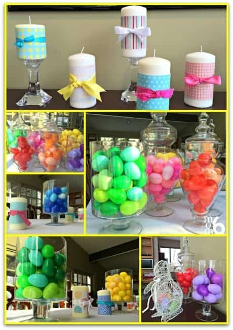 Are you looking for some Easter decor ideas? Do you have any leftover plastic Easter eggs? Why not use them to do a little decorating for Easter?