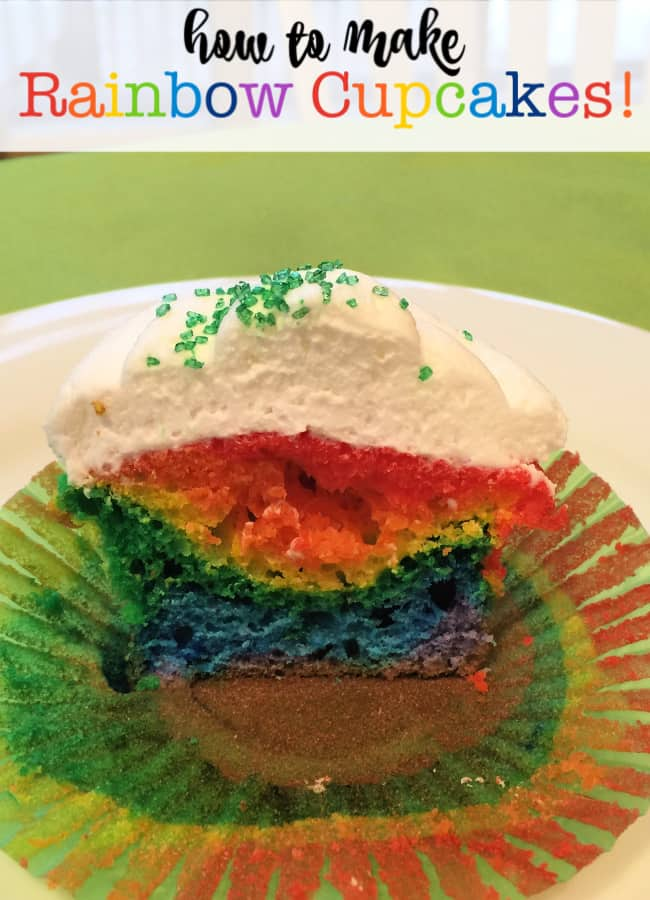"This isn't as much a recipe- as it is a ""technique"", and while rainbow cupcakes take a lot longer to make than regular cupcakes, the WOW factor is HUGE!"