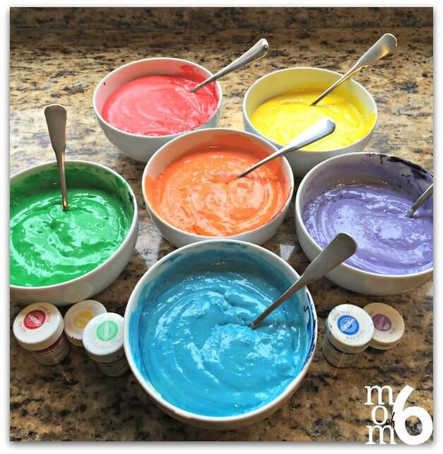 how to make rainbow cake batter