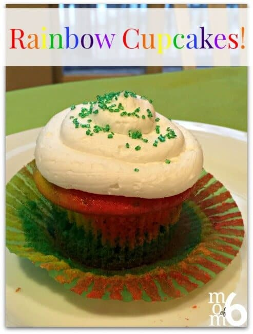 "This is more of a ""technique"" than a recipe, but these rainbow cupcakes sure have a ""WOW"" factor when the kids bite into them! Perfect for St Patrick's Day!"