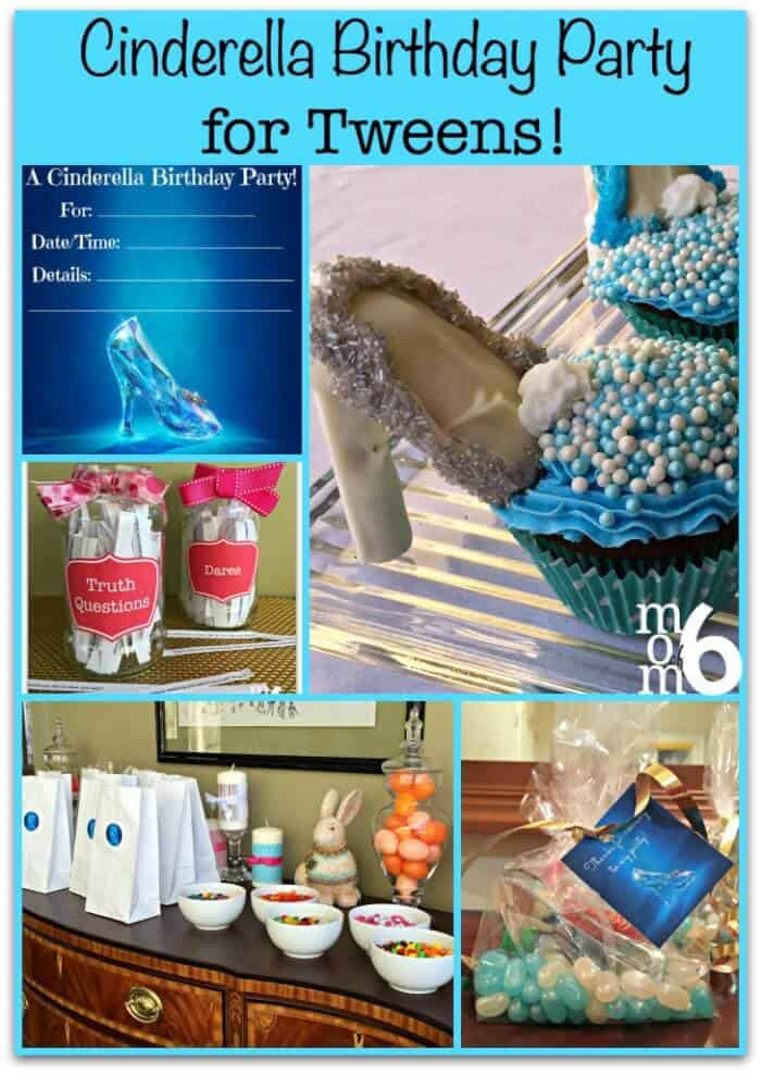 I think every girl loves the Cinderella story of falling in love, being found again by her prince, and becoming a princess. Which is why it is so much fun to plan a Cinderella birthday party for your tween!