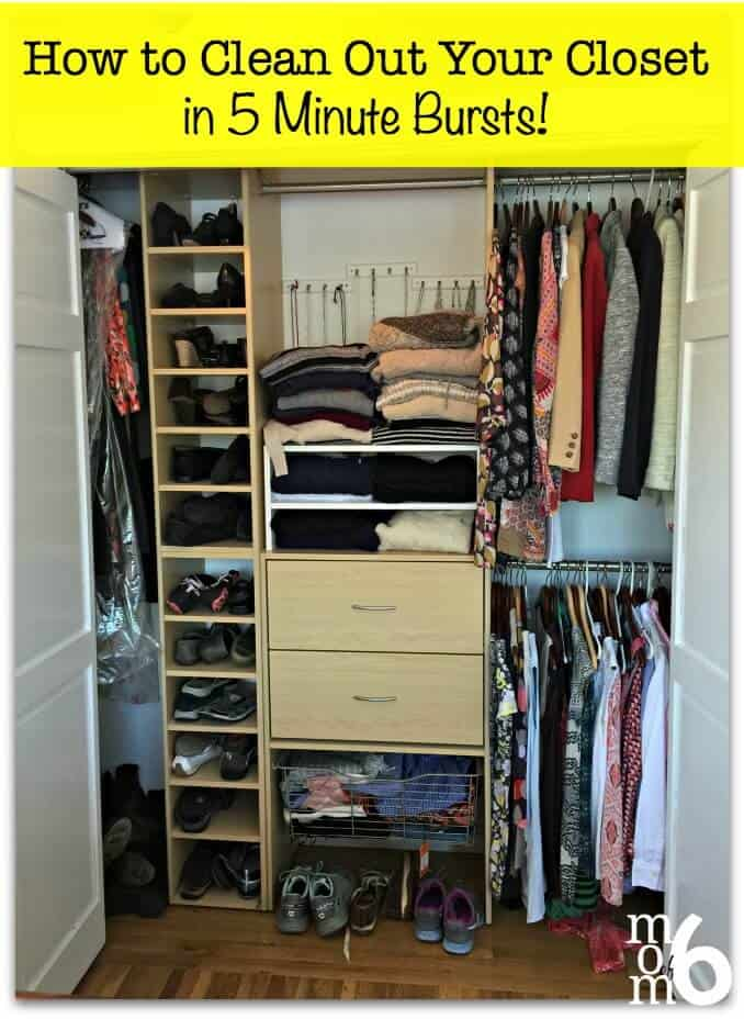 How To Clean Out Your Closet how to clean out your closet- in 5 minute bursts! - momof6