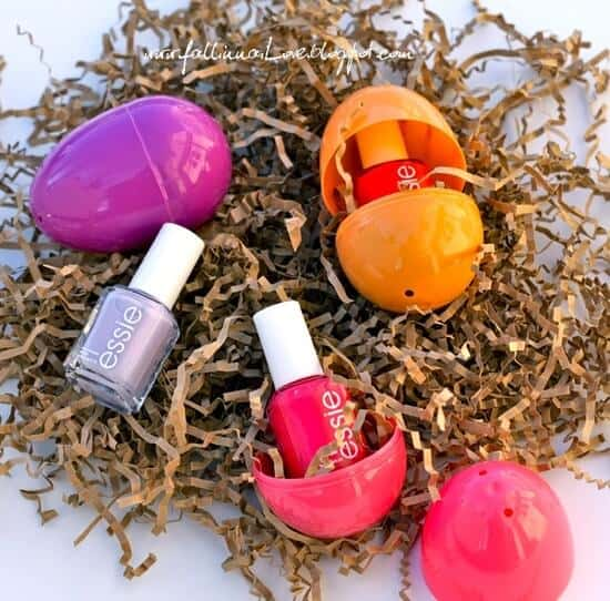 nail polish in Easter eggs