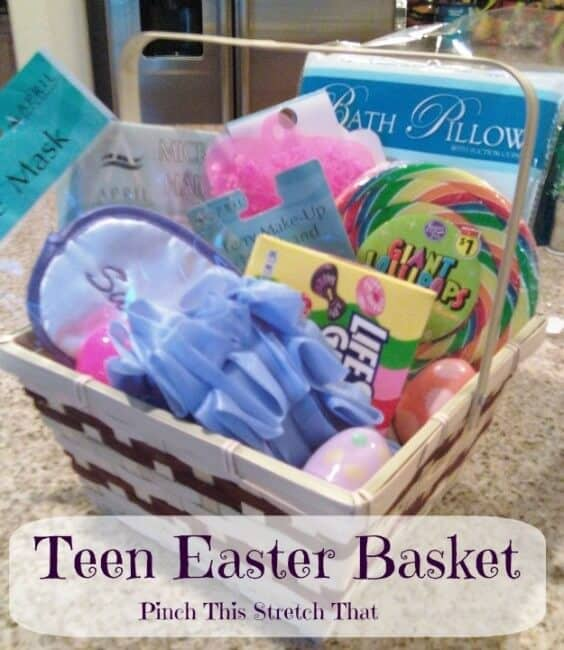 spa Easter basket for teens