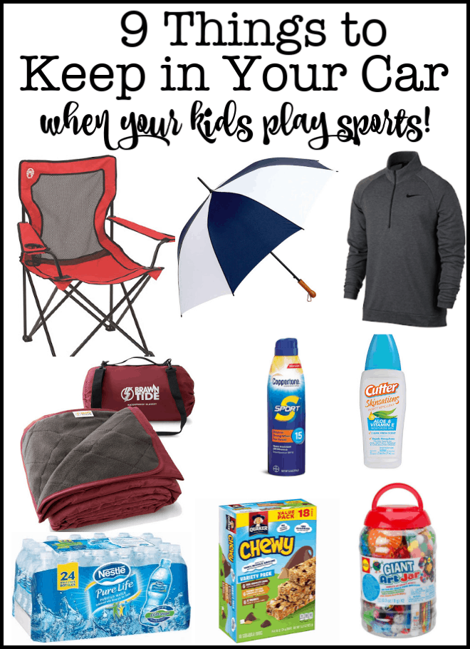 A smart thing that you can do prior to each sports season is to spend a few minutes to gather together and put into the car the gear you need to enjoy the season- so that you can be prepared for anything that comes your way! Here are 9 Things To Keep in Your Car When Your Kids Play Sports!