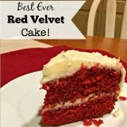 Best EVER Red Velvet Cake!