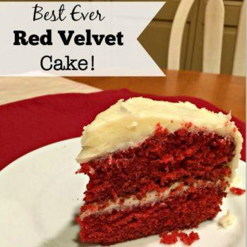 Best EVER Homemade Red Velvet Cake!