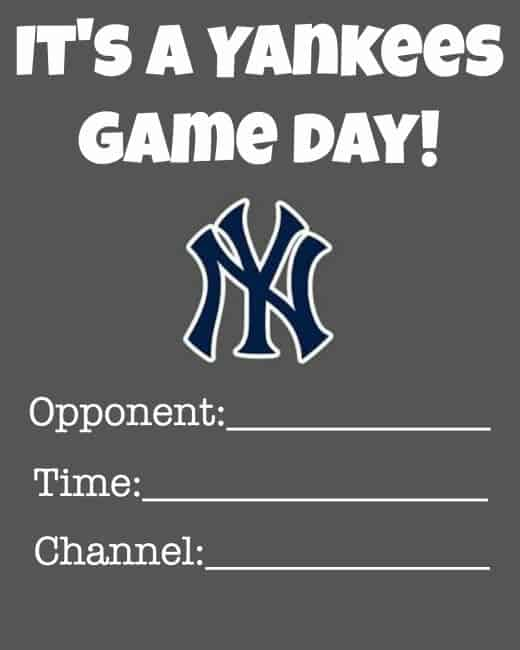 Here's how we are getting ready for the NY Yankees home opener, and making it more of an event here at our house! #MLBFanatics #CleverGirls