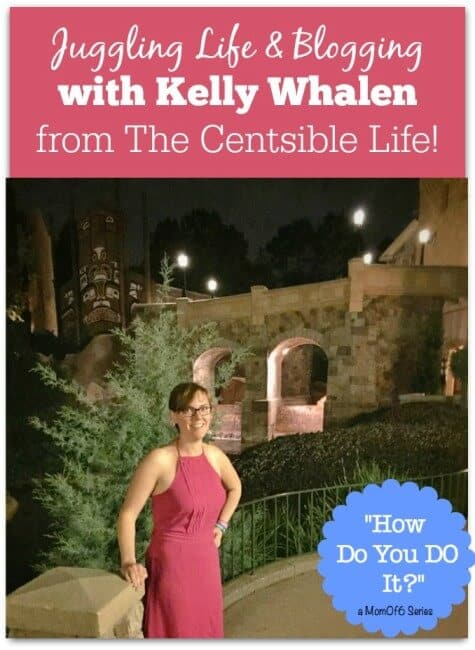 Don't you just love to learn about how other women handle juggling life and blogging? Today I interview Kelly Whalen from The Centsible Life and learn just how she does it!