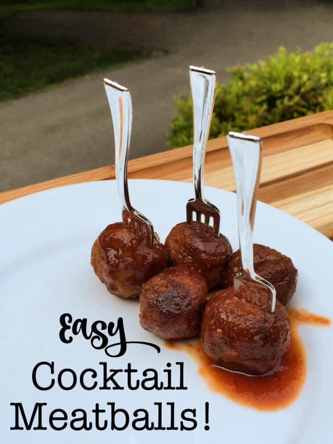 This recipe for easy cocktail meatballs only contains 3 ingredients- and covers the meatballs in the tangiest and most delicious sauce!