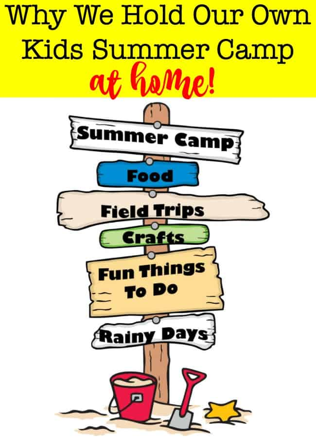Camps, lessons, and activities for 6 kids can lead to a busy (and expensive) summer schedule! Here's why we love to hold our own kids summer camp at home (and some ideas on how you can do it too!)