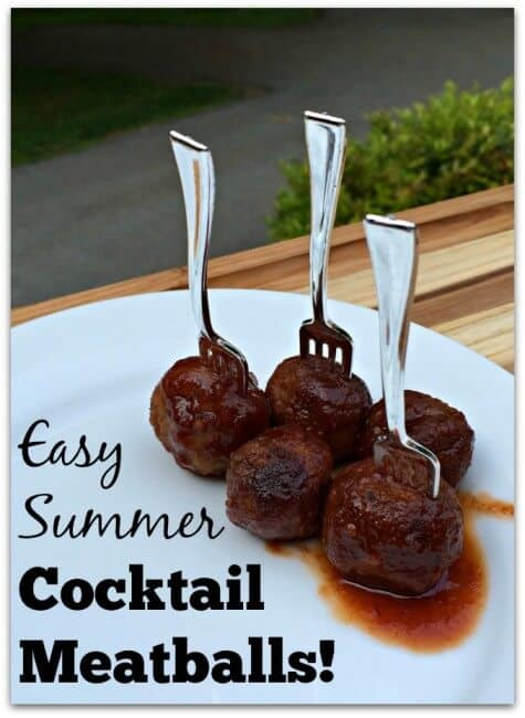 This recipe for cocktail meatballs only contains 3 ingredients- and makes the most tangy and delicious sauce! We love to enjoy our meatballs as an entree with a side of oven-baked fries.... or piled onto sweet Hawaiian buns as mini meatball-sliders! Either way- the kids gobble them up!