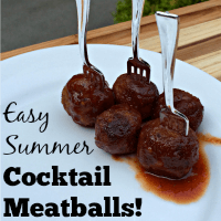 Easy Summer Cocktail Meatballs