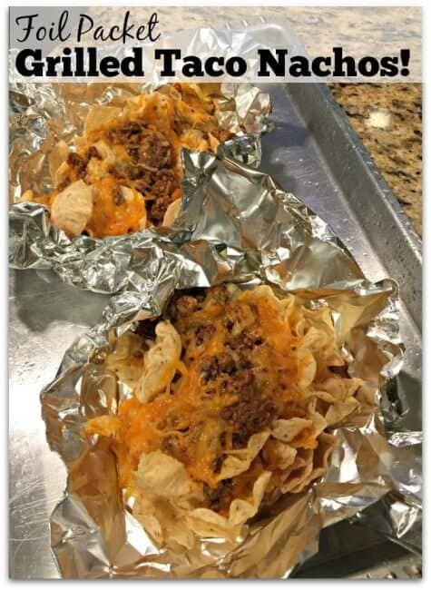 Did you know that you can make your taco nachos on the grill? Grilled taco nachos have a smokiness to them that makes them oh-so-delicious!