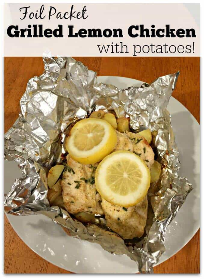 Foil Packet Grilled Lemon Chicken is a great recipe that you and your kids can prep together, and then you just toss the packets on the grill! So delicious!