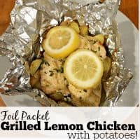 Foil Packet Grilled Lemon Chicken with Potatoes