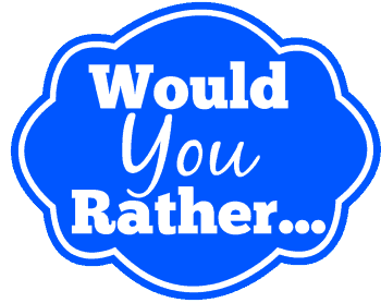 graphic relating to Would You Rather Printable called 50 Would Your self Instead Thoughts for Tweens Free of charge Birthday