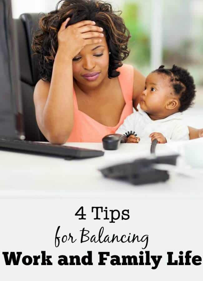 There's way too much to do to squish into a 24-hour day. Especially when trying work part time and manage your busy family! Here are 4 tips for balancing work and family life!